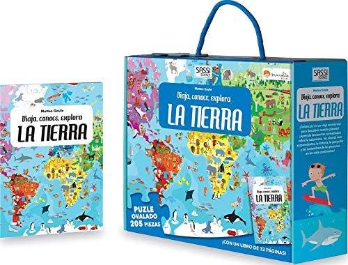 Tierra viajes y aprendizajes - Libro + puzzle