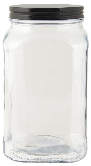 0655.IBL - Glaskrug mit schwarzem Deckel