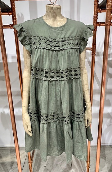 Lisbon - shortsleeveless dress with lace
