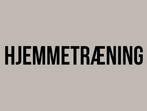 HJEMMETRÆNING APRIL 2020