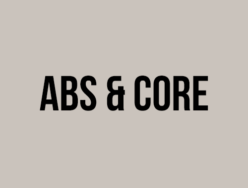 ABS & CORE - AUGUST 2020