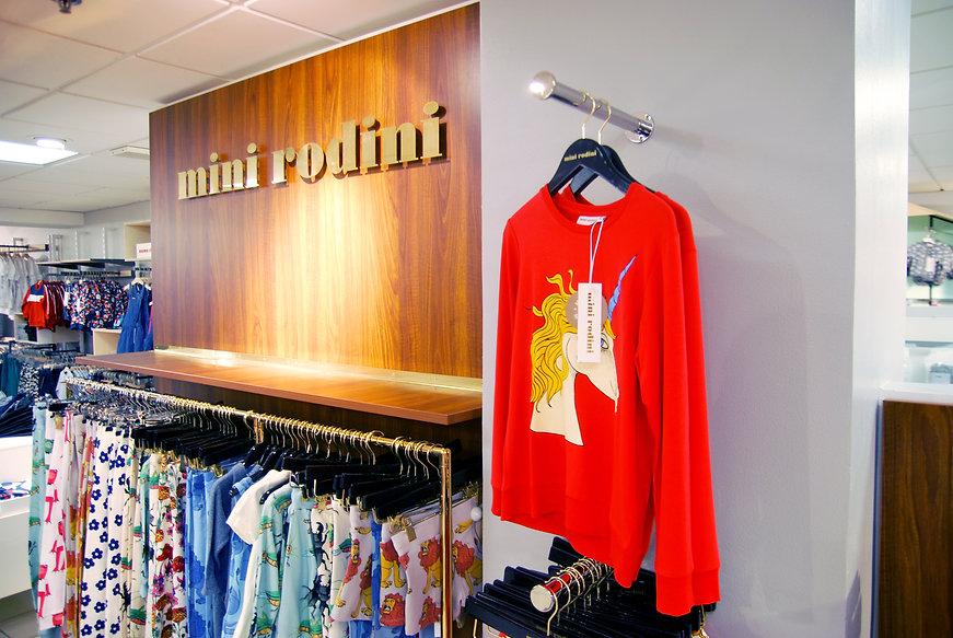 Mini Rodini retail butiksinredning
