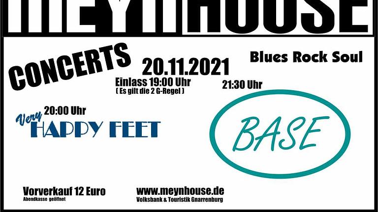"""DoppelKONZERT mit """"very HAPPY FEET""""  und """"BASE"""" 20.11.21"""