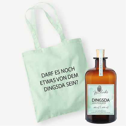 DINGSDA Kräuterlikör + Beutel