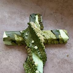Textured Funeral Cross