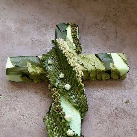 Textured Funeral Cross