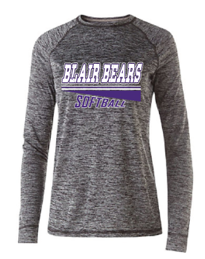 Item 5: Ladies Electrify Long Sleeve | Black Heather