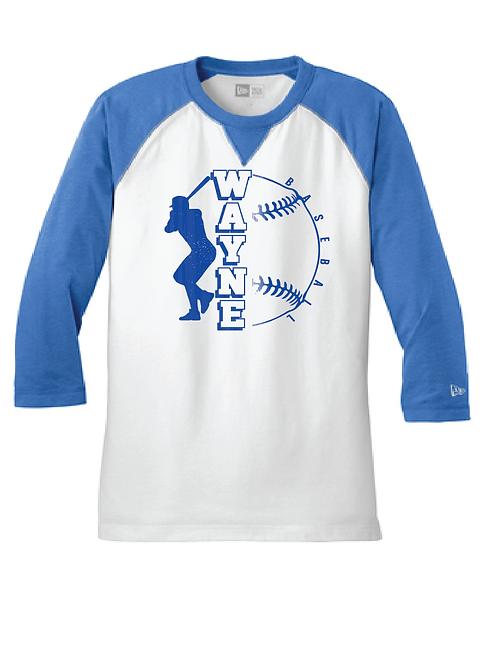 WB | NEA121 Sueded Cotton Blend 3/4 Sleeve Baseball Tee