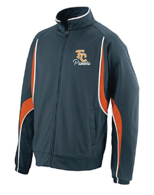 Full Zip Jacket | Black/Orange