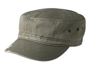 District Distressed Military Cap // DT605