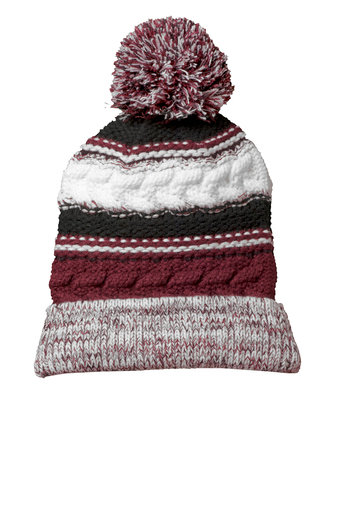 NJW   STOCKING HAT WITH EMBROIDERY