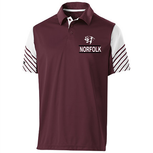 222548 Men's Arc Polo | Maroon/White