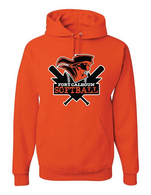 Hooded Sweatshirt  | Orange