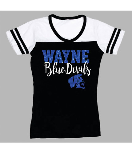 Wayne High | Powder Puff Tee with Glitter