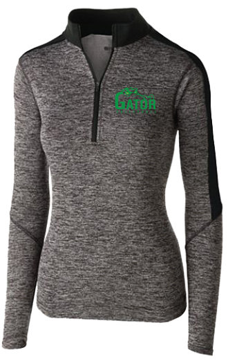 Ladies' Electrify 1/2 Zip Pullover | Kelly or Blac