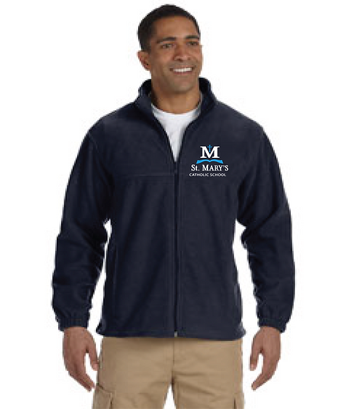 Men's Full-Zip Fleece Jacket | Navy