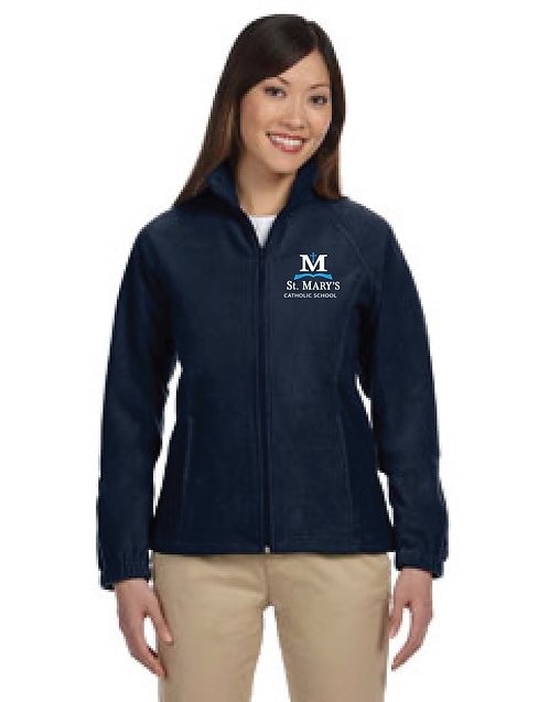 Ladies Full-Zip Fleece Jacket | Navy