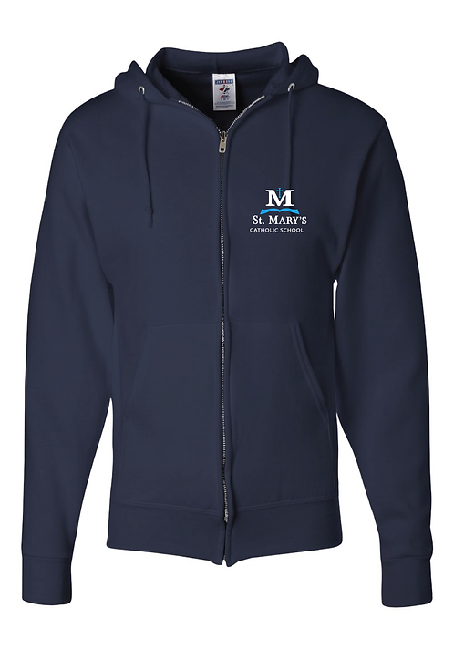 Full-Zip Hooded Sweatshirt | Navy