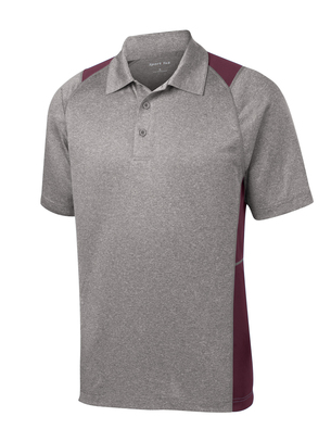 NJH | Adult Heather Colorblock Conterder Polo