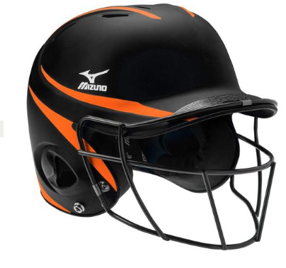 Batting Helmet  Black/Orange