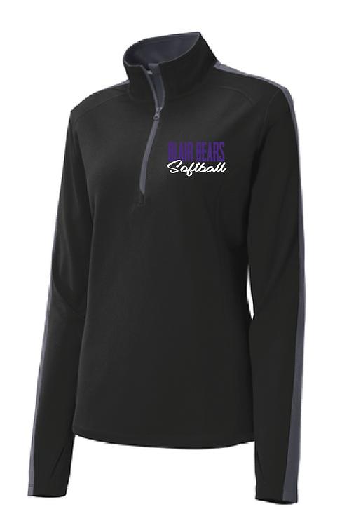 Item 12: Ladies 1/4 Zip Jacket   Black/Gray