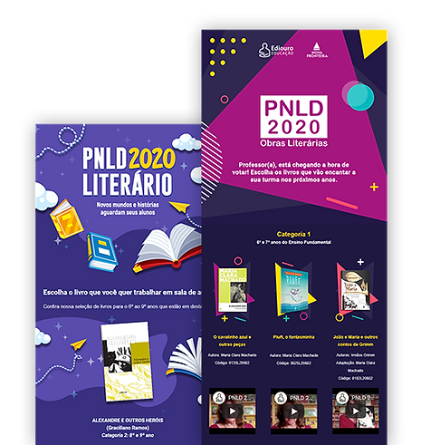 Emails marketings das campanhas de PNLD 2020