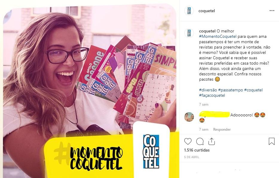 Exemplo da brand persona da Coquetel na prática