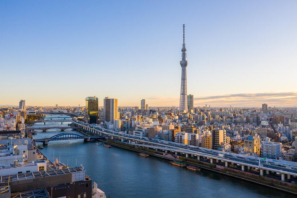 panorama-view-sunrise-tokyo-city-skyline