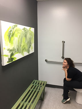 forge bathroom art
