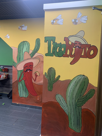 Taco Rito Mural, Commercial, Hightstown NJ