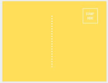 Yellow Back Postcard