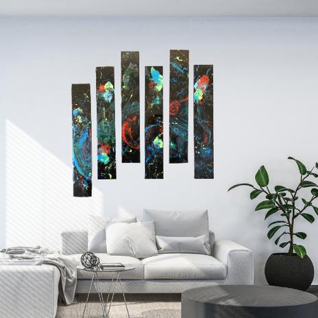 6 Panel Galaxy Abstract