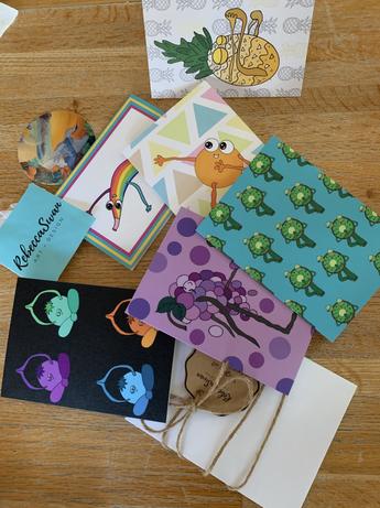 Yogi Fruit Greeting Cards