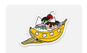 Banana Boat Sticker
