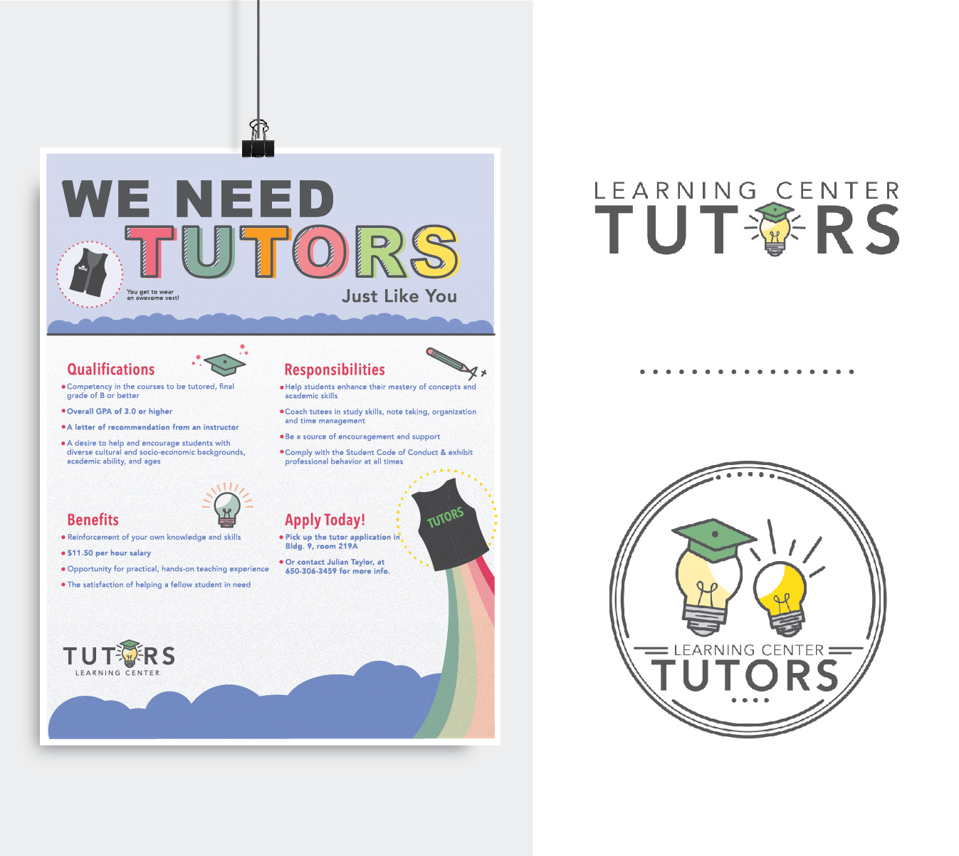 Tutoring Flyer and Logo