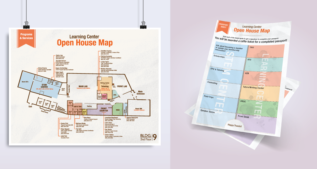 Floor Map and Stamp Flyer