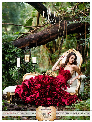 The Vial Red Dress Poster 12x14