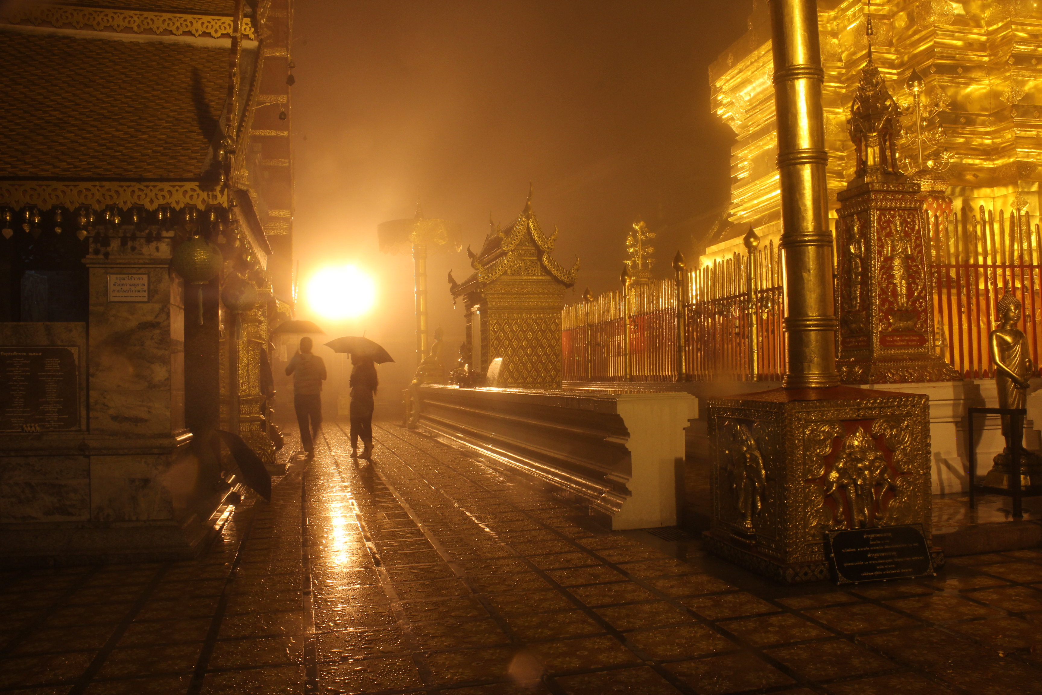 Temple in the Rain
