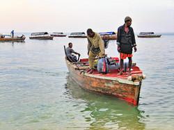 Fishermen in Zanzibar.