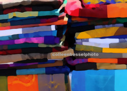 Colorful Blankets at Mexican Market.
