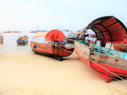 Colored fishing boats