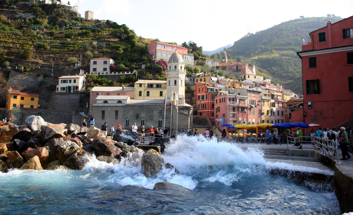 Vernazza from the sea.