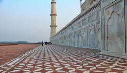 Courtyard of Taj Mahal