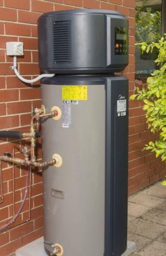Hot Water Heat Pump Installation