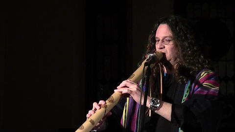 "Stephen Darnell playing ""Desert Flower"" on the Native American style Flute played at the F.A.M.E. Members Concert at the Hill Chapel on January 8, 2015."