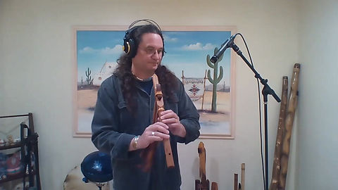 """""""Pond Reflections"""" from my CD """"Creekside Prayer"""" performed on the Bm flute made by the late Randy Stenzel at Feather Ridge Flutes"""