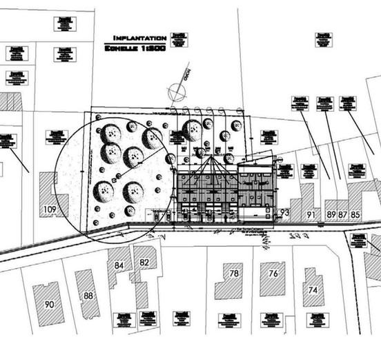 plan de l'emplacement du projet