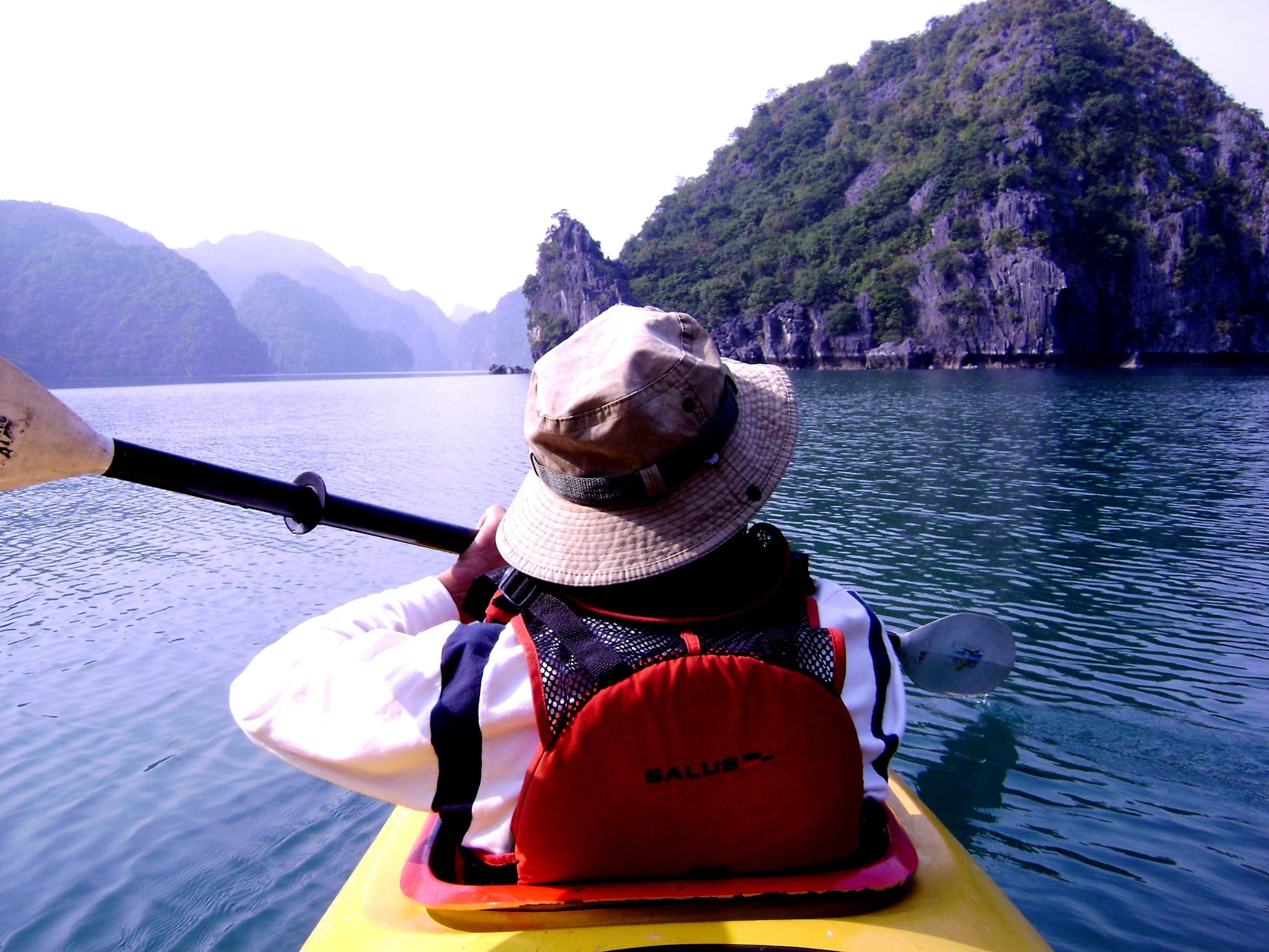 Explore Halong Bay by kayak