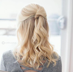 Gorgeous Half up Half down Hair Style fo