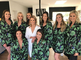 Bride and Her Bridesmaids!  Hair by @sam